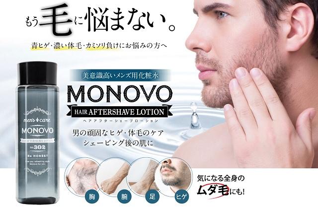 MONOVOアフターシェーブローションの紹介