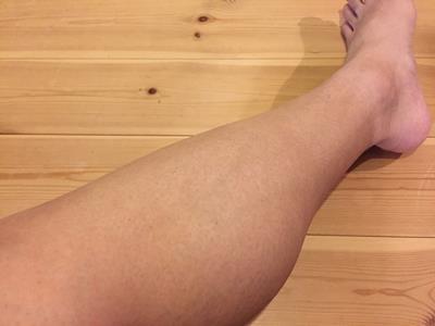 除毛した後の足